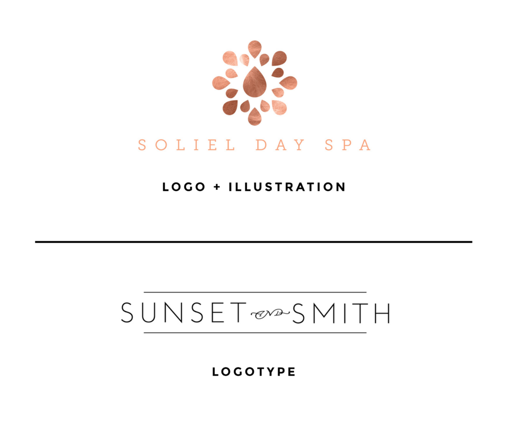 Logo Design Examples with Illustration and Logotype