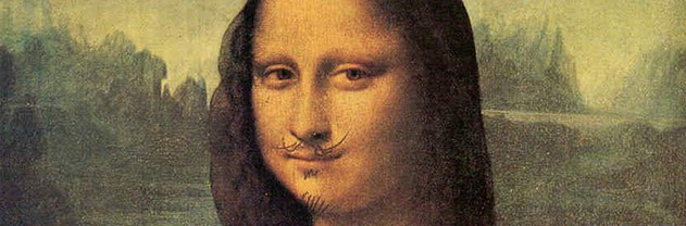 Mona Lisa with Moustache, by French artist Marcel Duchamp (1887-1968)