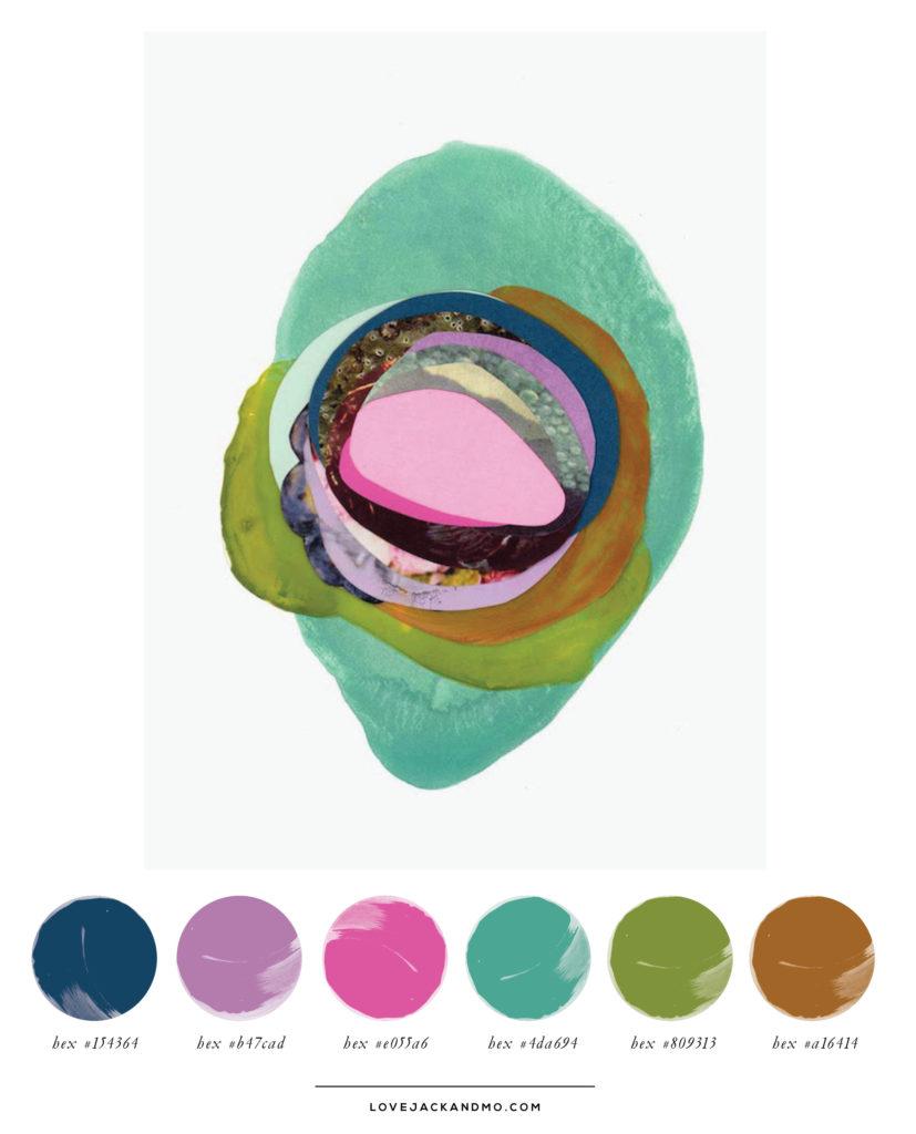 Original Artwork by Xochi Solis, Amazing Color Palette Inspiration