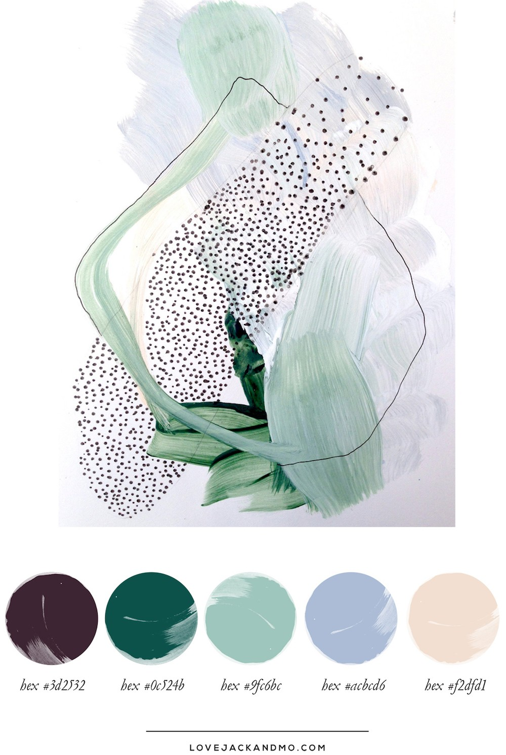 Botanical Abstract, Color Palette Inspiration