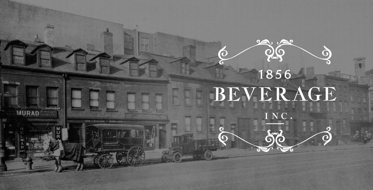 1856 Beverage Logo Design