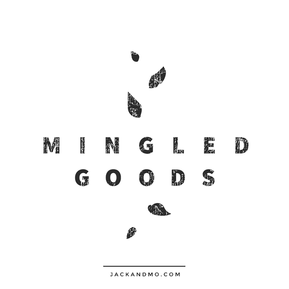 Black and White Hand Painted Logo Design Artisan Goods Logo Design Black and White