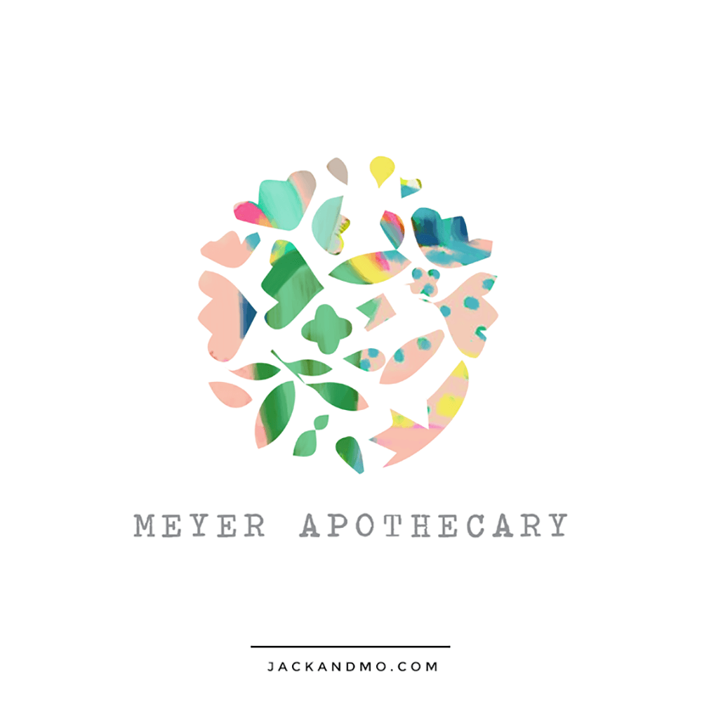 Apothecary Painted Custom Logo Design by Jack and Mo