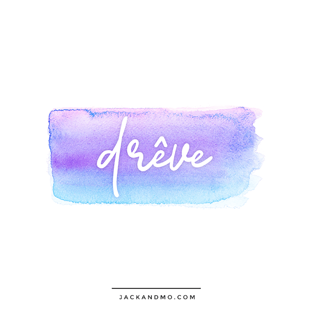 Boutique Logo Watercolor Design Custom Logo by Jack and Mo