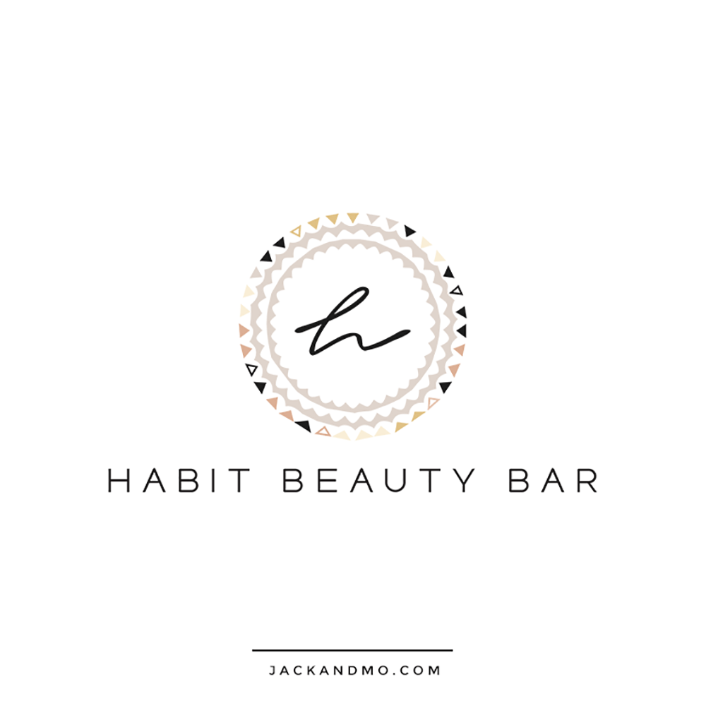 Lash and Brow Beauty Bar Studio Custom Logo Design by Jack and Mo
