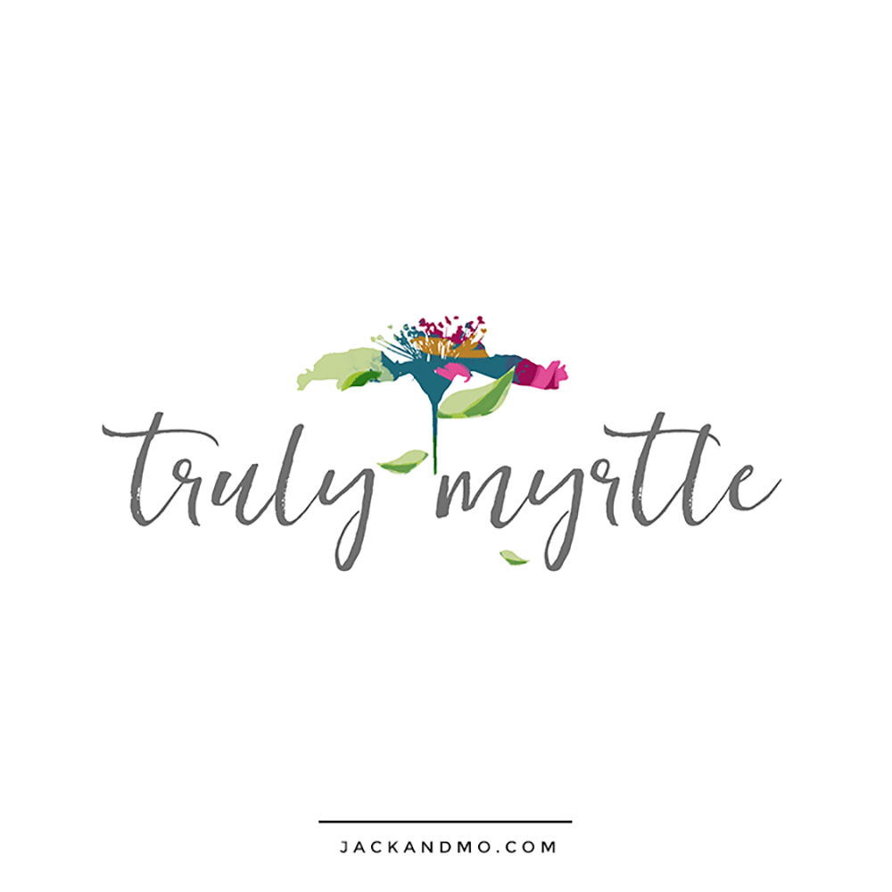 Hand Painted Floral Design for a Blogger
