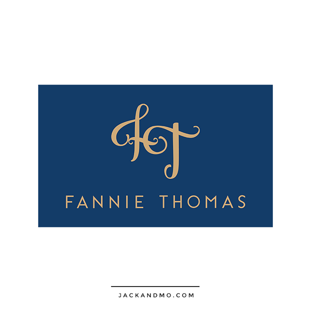 Gold Monogram Custom Logo Design for Jewelry Company by Jack and Mo