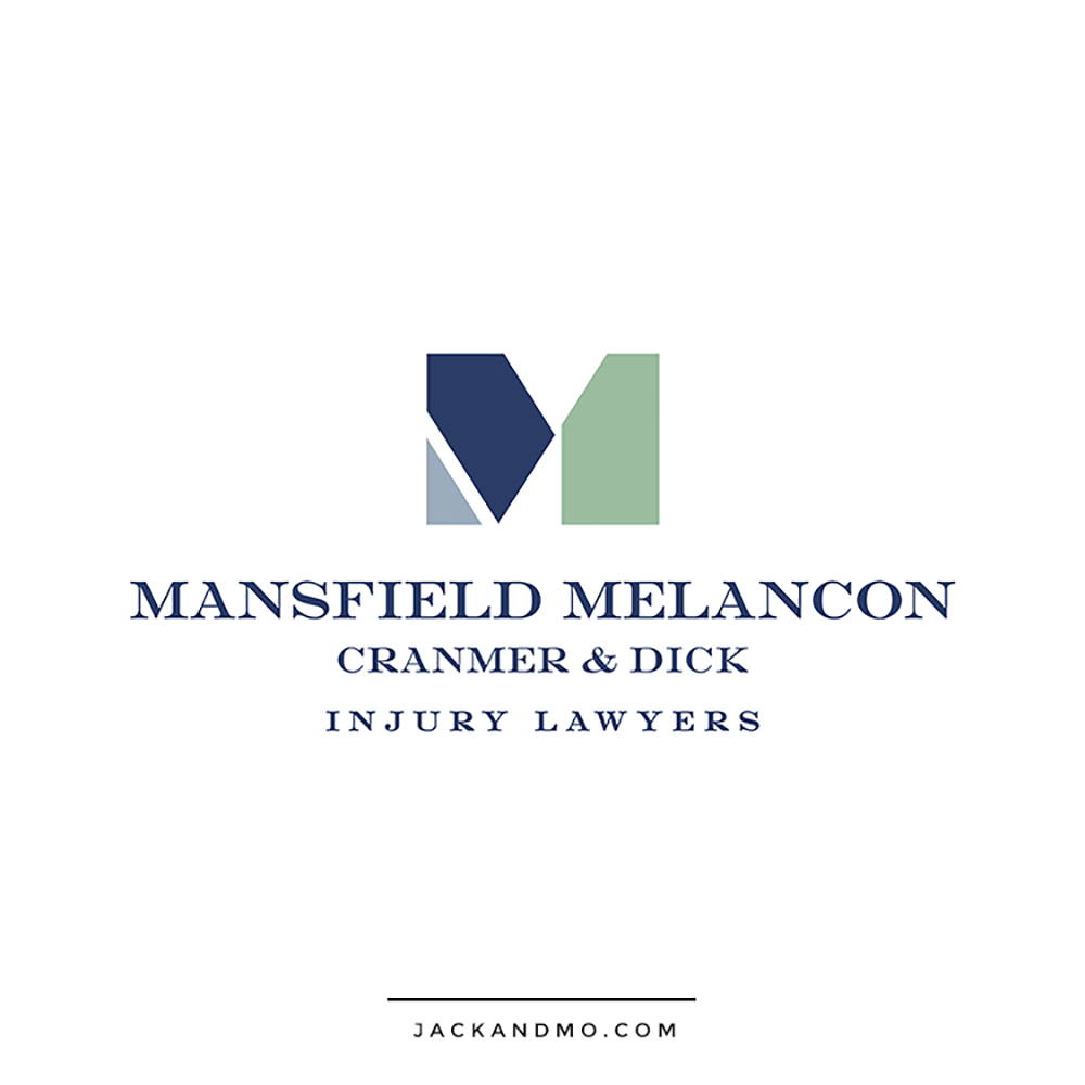 Injury Lawyers Attorney Law Firm Custom Logo Design by Jack and Mo