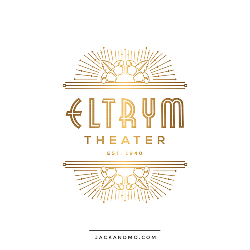 Vintage Theater Gold Custom Logo Design by Jack and Mo