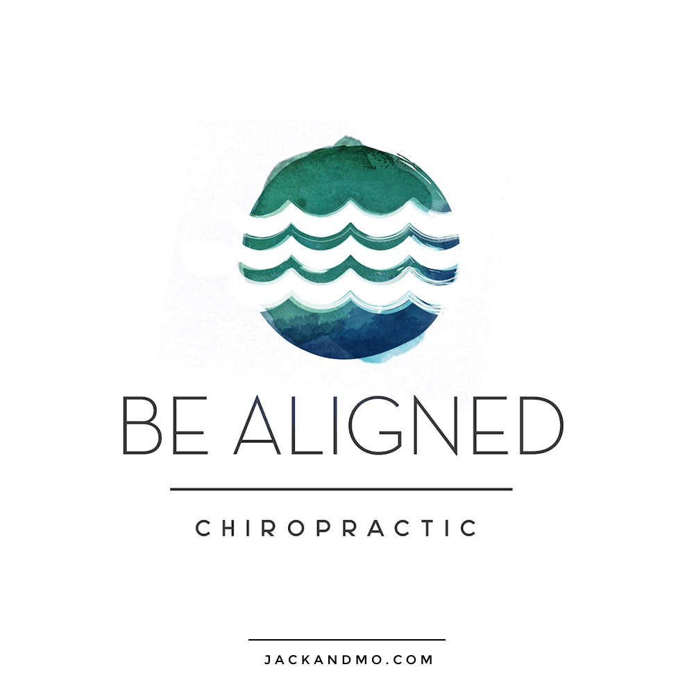 be_aligned_chiropractic_custom_logo_design