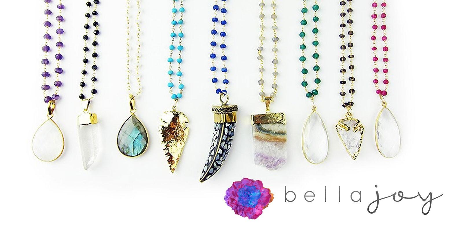 Bella Joy Jewelry, beautiful bright and colorful custom logo design