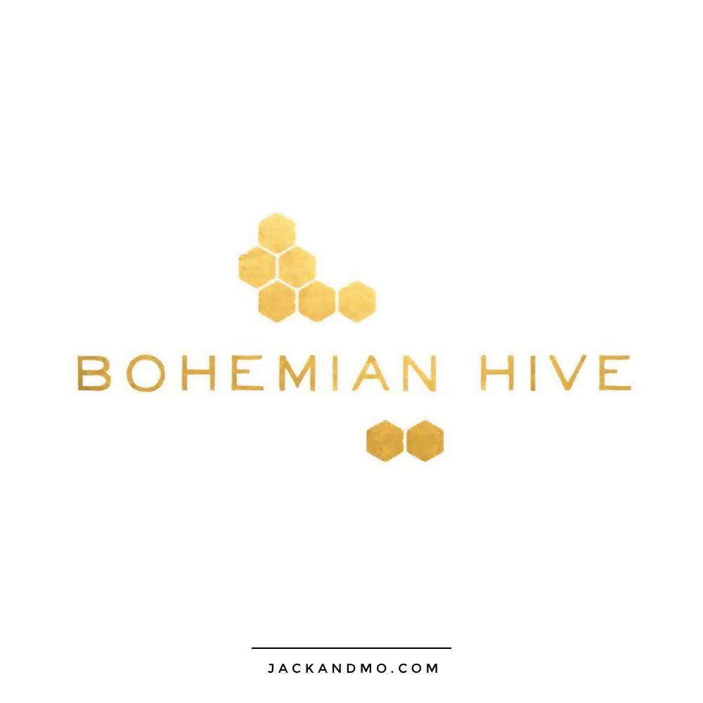 bohemian_hive_gold_foil_logo_design