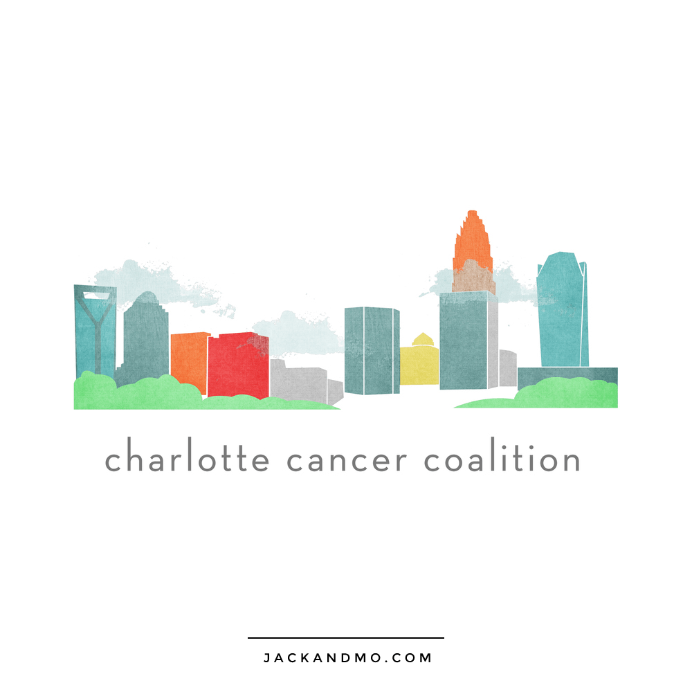 Charlotte NC Cancer Coalition Cool Custom Logo Design by Jack and Mo Raleigh NC