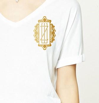 Gold Monogram Custom Logo Design, couture