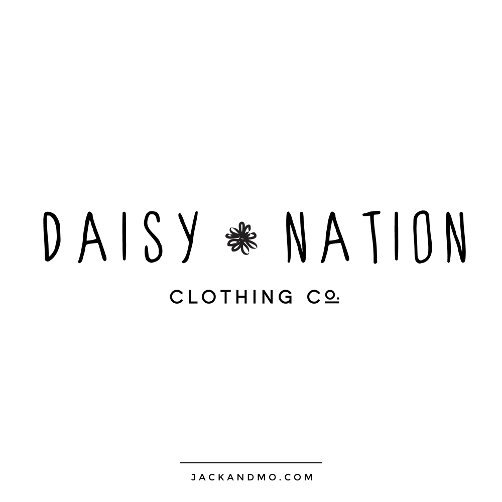 Clothing Company and Boutique Cool Black and White Custom Minimalist Logo Design by Jack and Mo Raleigh NC
