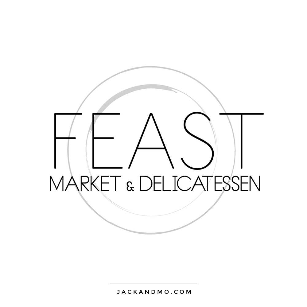 Minimalist Modern Custom Logo Design for Market by Jack and Mo Raleigh NC