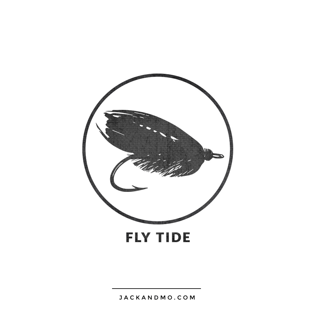 Fly Tide Logo Design for Fishing Charter Company by Jack and Mo