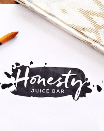 honesty_juice_bar_cool_modern_ink_logo_design_Raleigh_nc