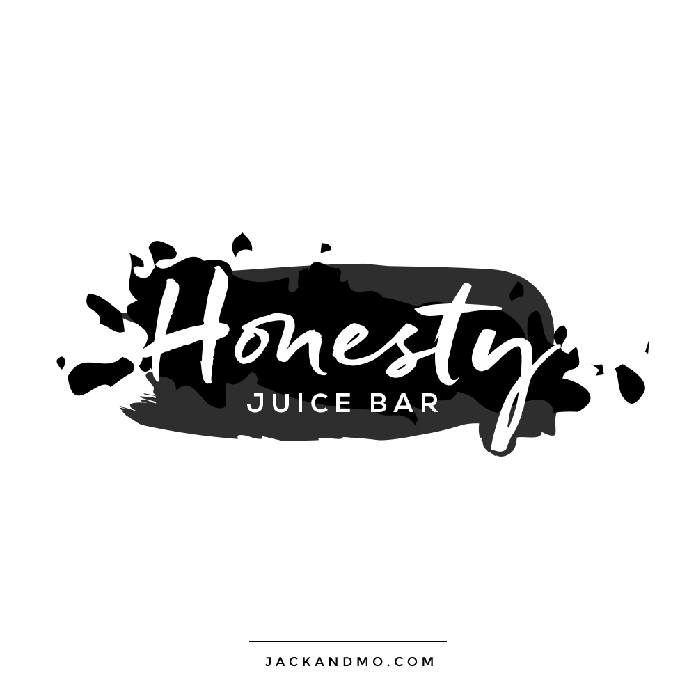 Cool Modern Ink Logo Design by Jack and Mo, for Juice Bar
