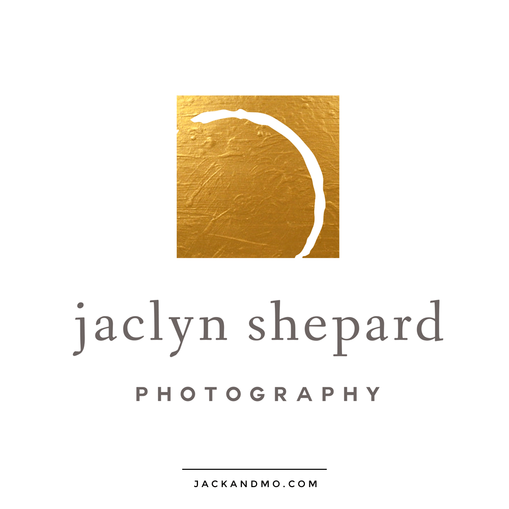 Amazing Gold Foil Simple Minimalist Logo Design by Jack and Mo Raleigh NC