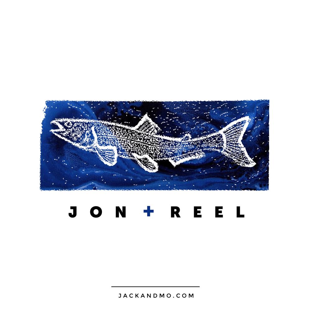 Creative Fishing Fish Custom Logo by Jack and Mo