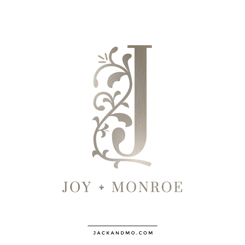 Bronze Silver Metallic Custom Logo by Jack and Mo for a boutique