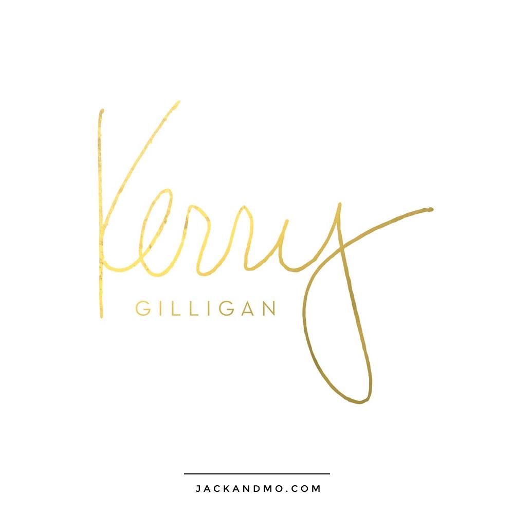 Handwritten Logo Design, Custom, Gold, by Jack and Mo