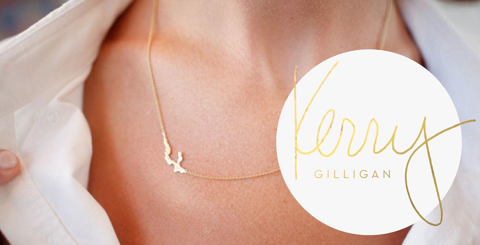Kerry Gilligan, logo design for a fashion brand, jewelry line
