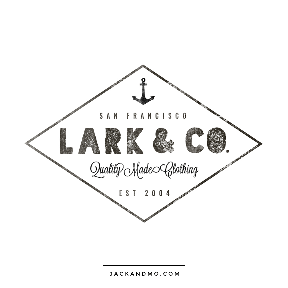 Black and White Hipster Custom Logo Design by Jack and Mo Raleigh NC