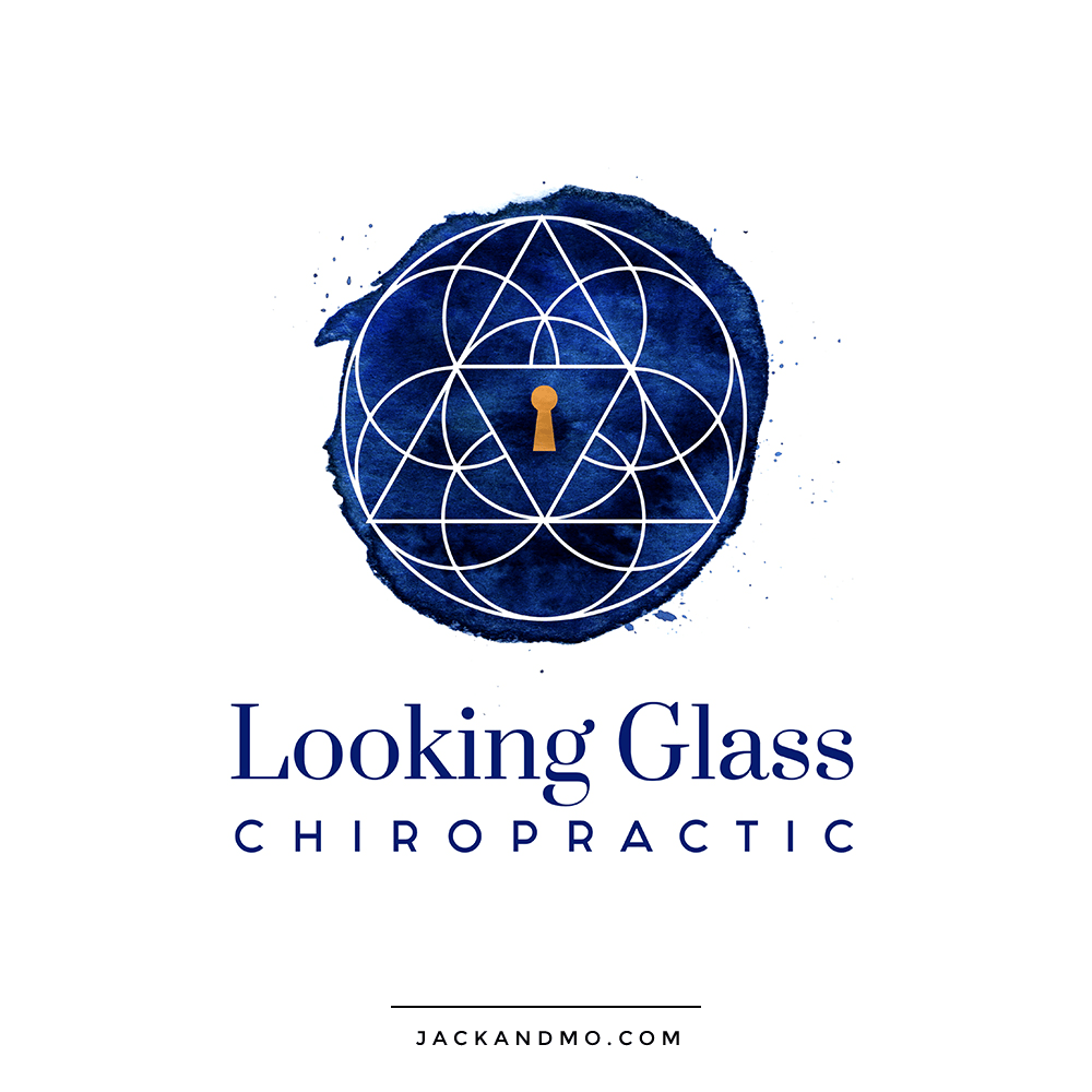 Blue Watercolor and Gold Foil Custom Logo Design by Jack and Mo
