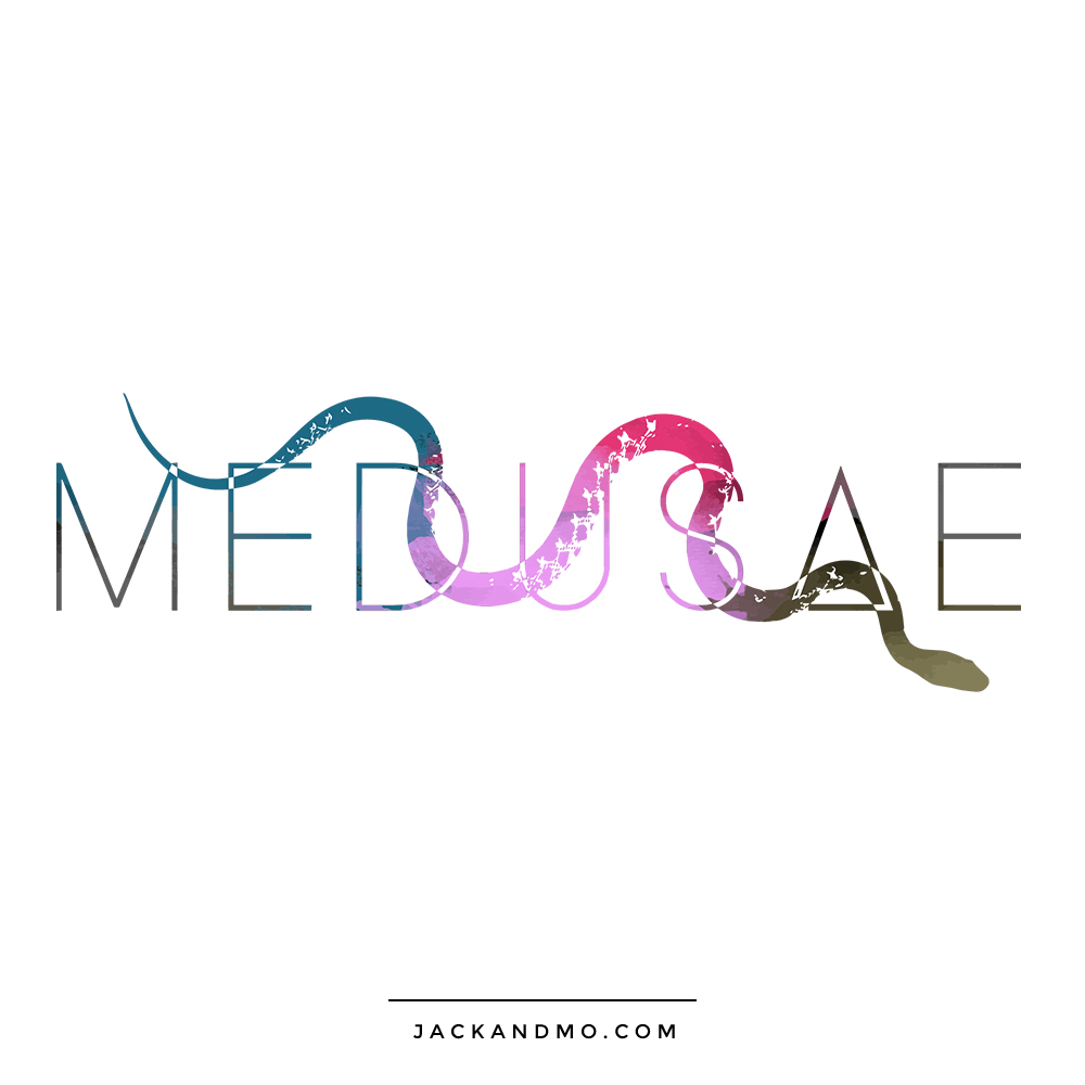 Snake Feminine Painted Logo Design Unique Boutique Logo Design by Jack and Mo
