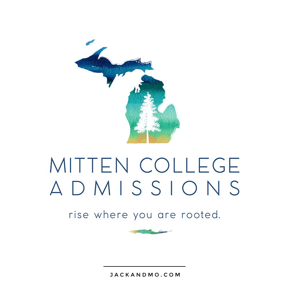 mitten_college_admissions_logo_design