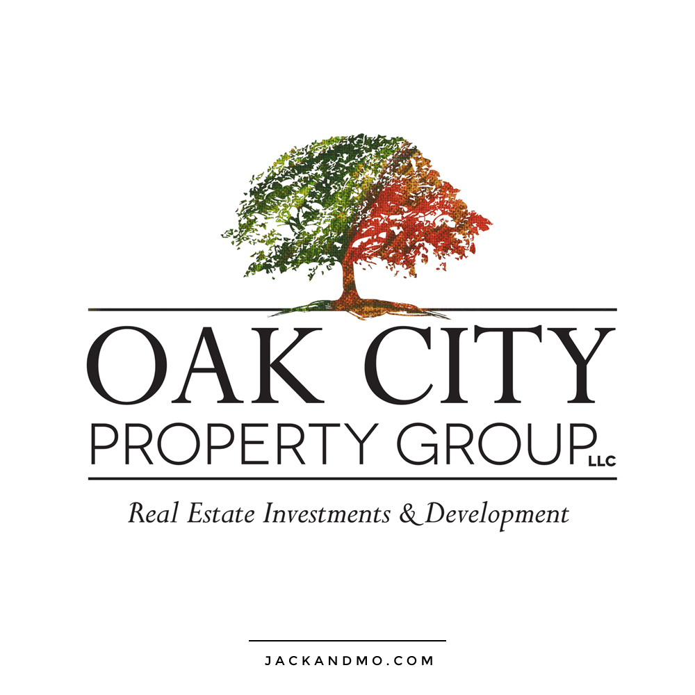 Real Estate Investments and Development Raleigh NC Custom Logo Design by Jack and Mo