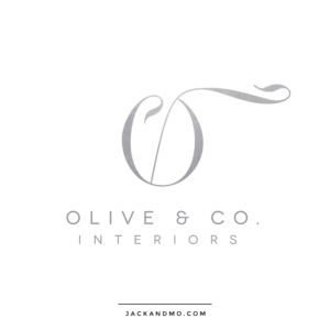 olive_and_co_interiors_logo_monogram_silver_foil