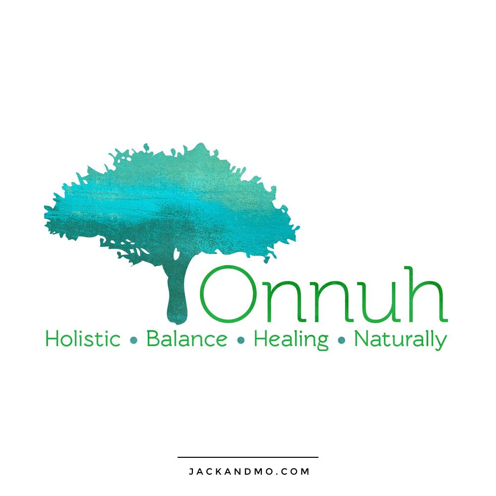 onnuh_holistic_balance_healing_logo_design