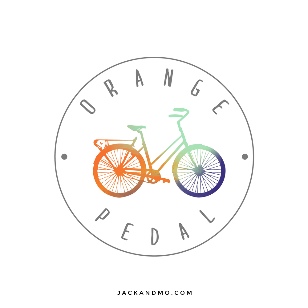 Custom Painted Logo Design with Bike Bicycle Original by Jack and Mo