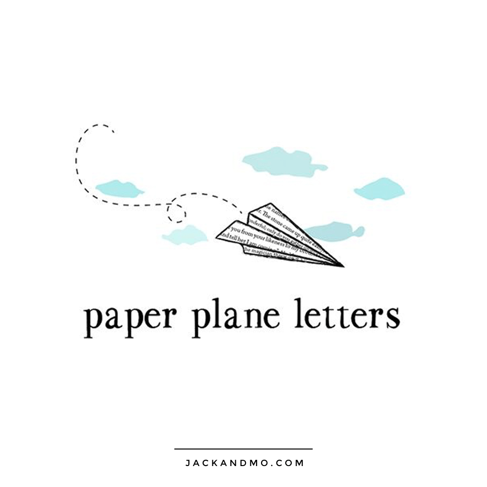 Paper Airplane Plane Cool Custom Logo for Children's Company by Jack and Mo