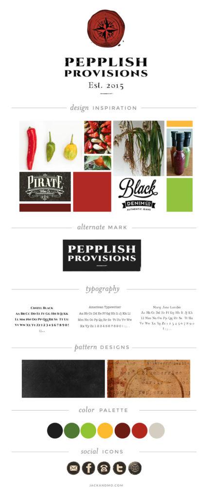 Pepplish Provisions Logo Design