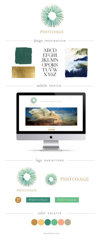 Beautiful custom bespoke logo design, clean, simple, creative, Jack and Mo, Meredith Myers