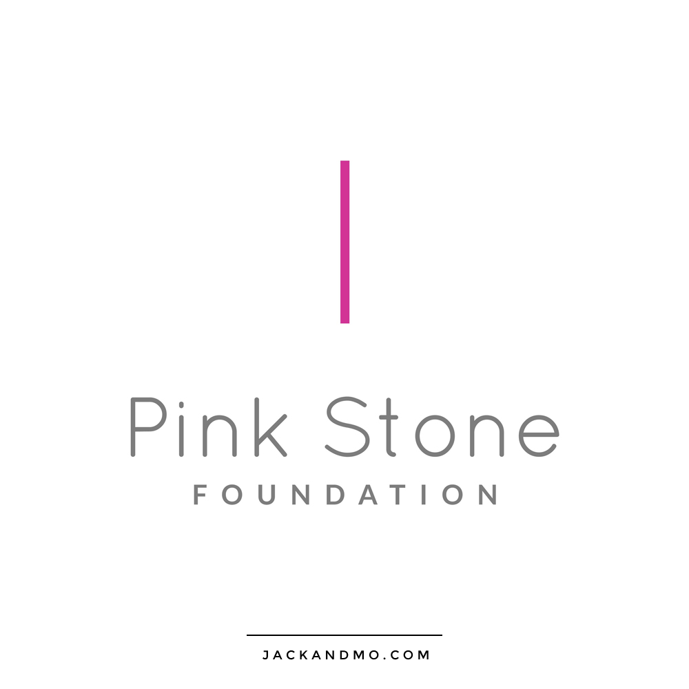 Super Simple Modern Minimalist Logo Design Pink and Gray by Jack and Mo Raleigh NC