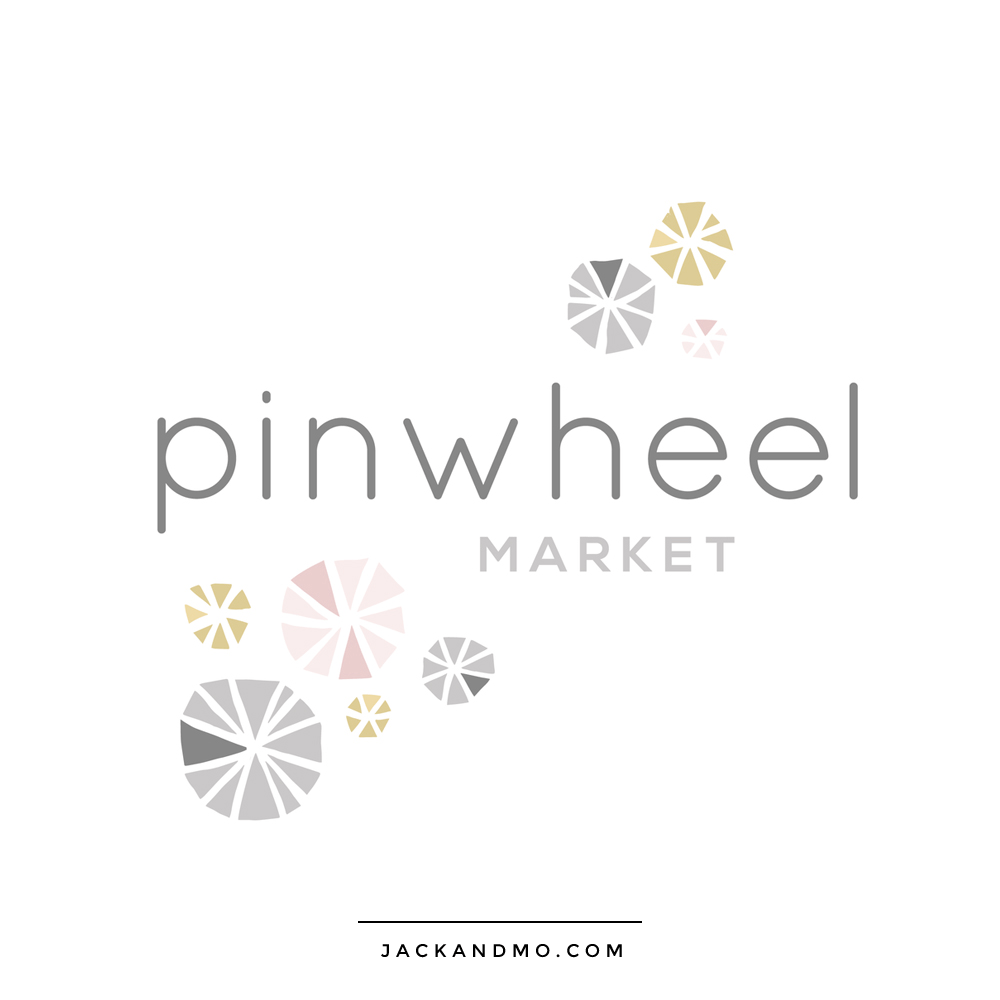 Gray Pink and Yellow Unique Logo Design Fun Quirky by Jack and Mo Raleigh NC