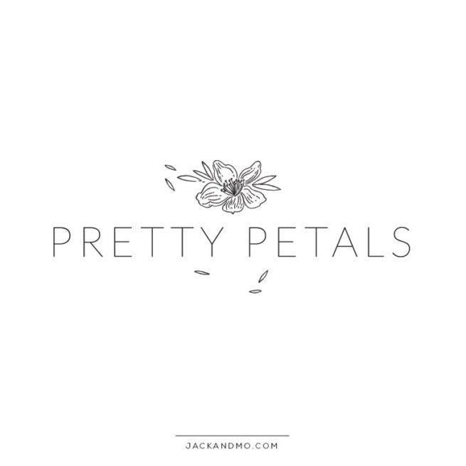 Pretty Petals Premade Logo