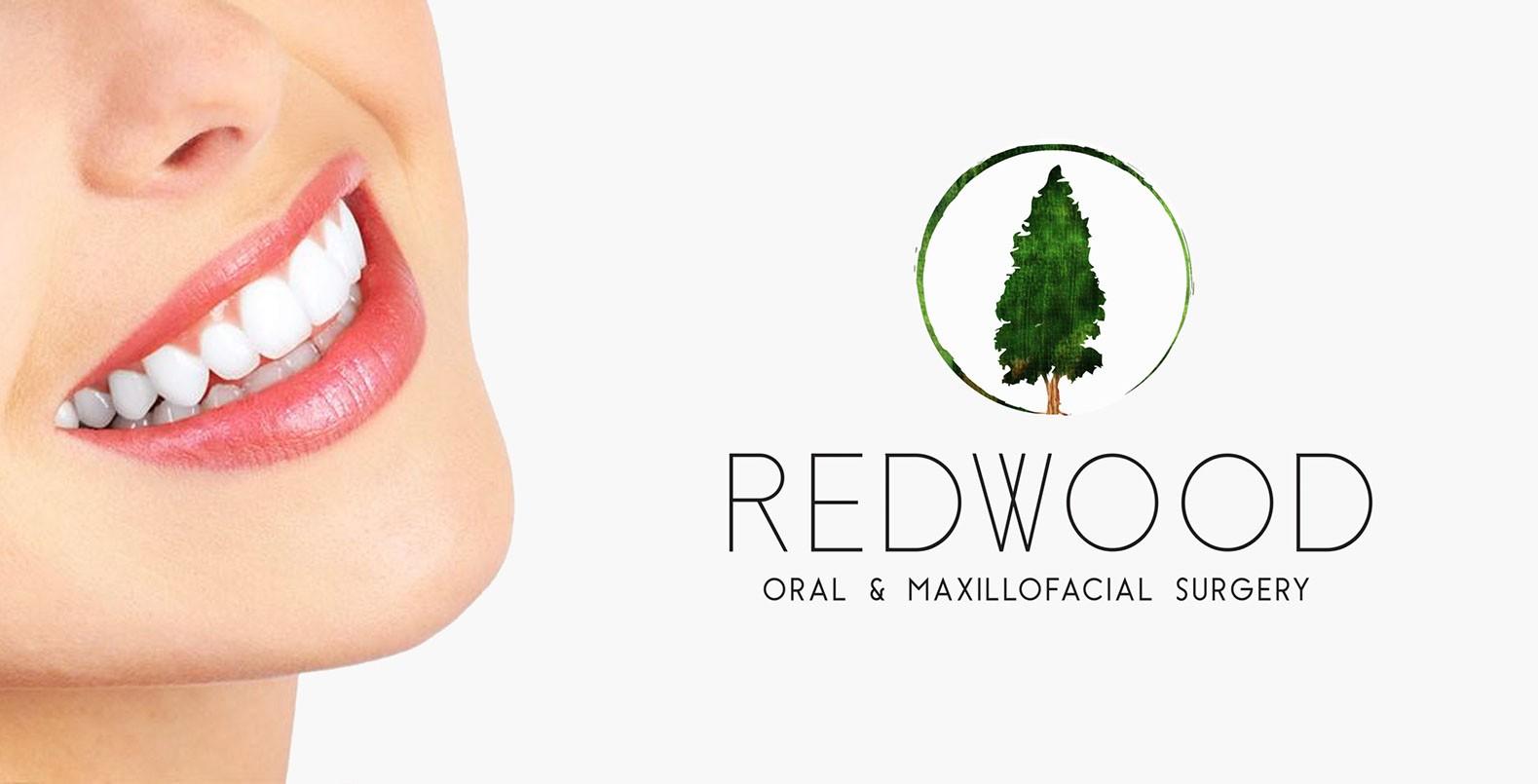 Redwood Dental Logo, Dentist office branding
