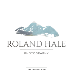 Hand Painted Logo of Mountains, Couture Custom Logo Design Photography Jack and Mo