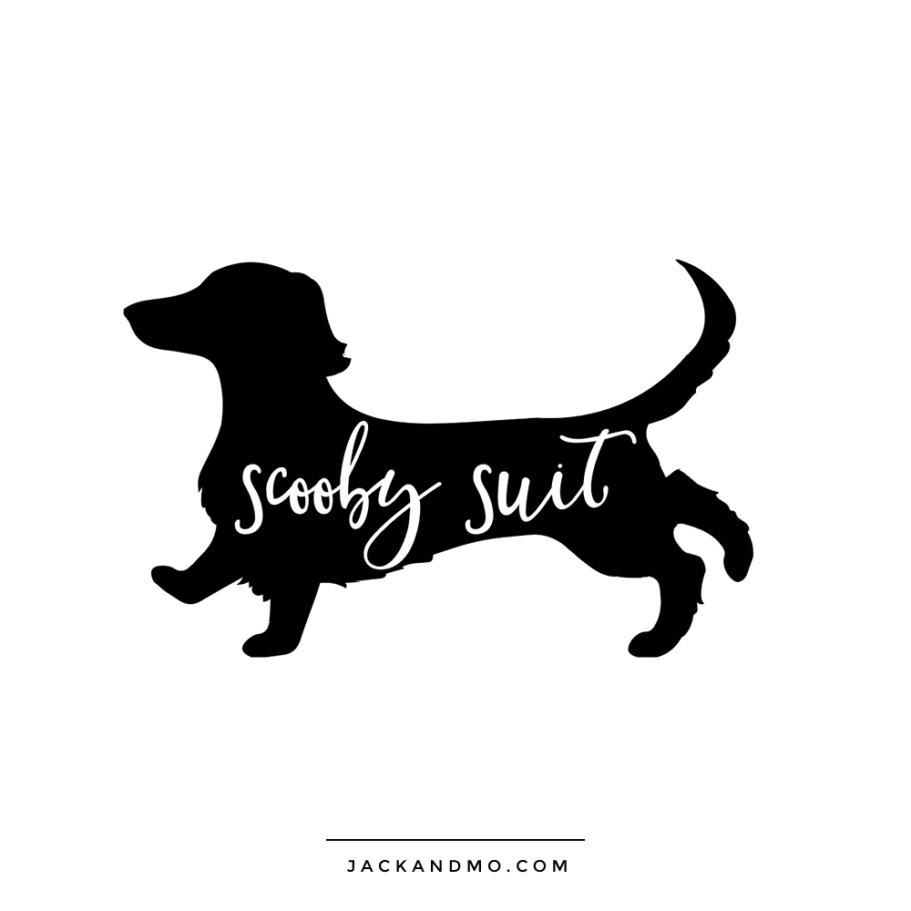 scooby_suit_logo_design_dachshund