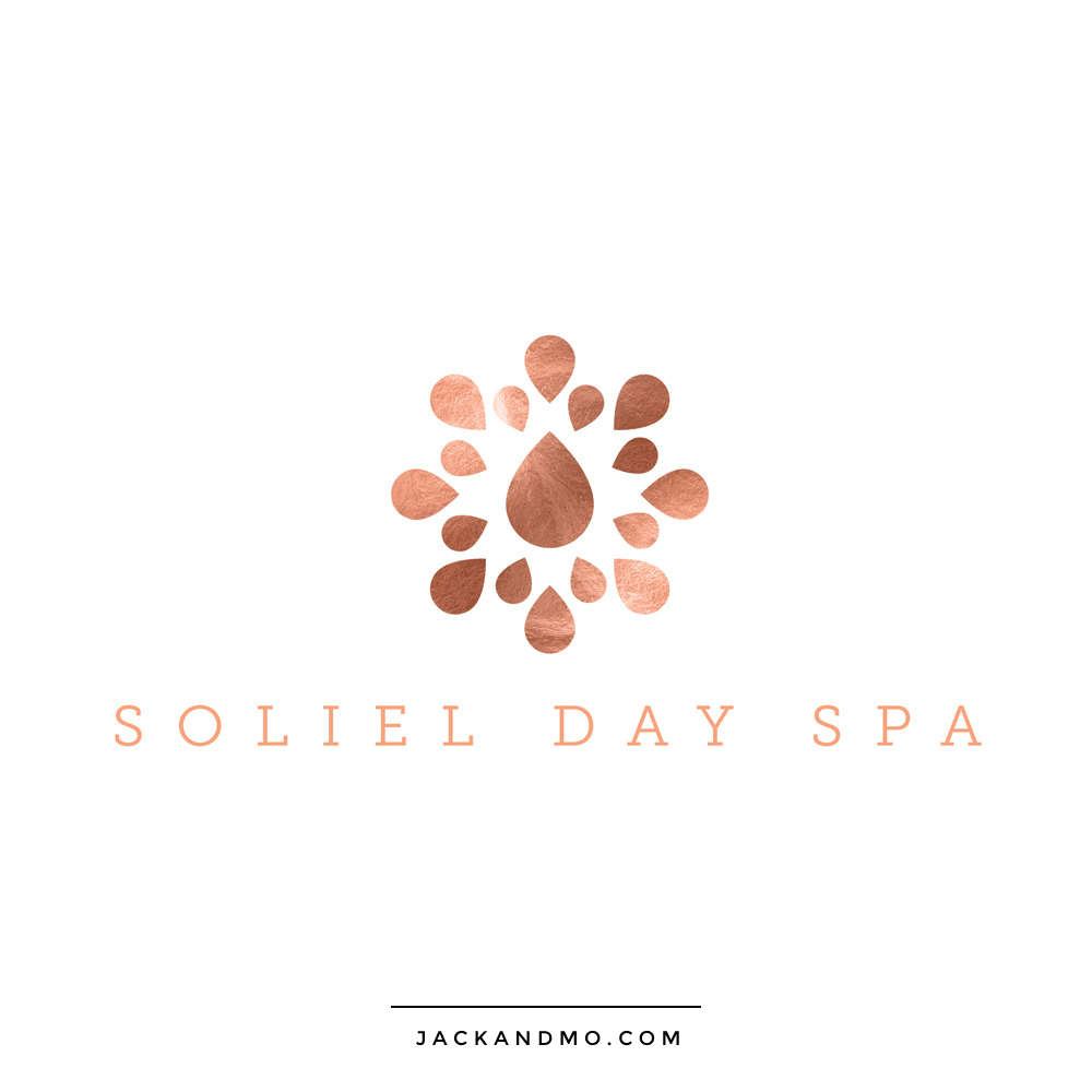 Custom Spa Logo Design with Copper Foil, Beautiful, High-End by Jack and Mo Meredith Myers