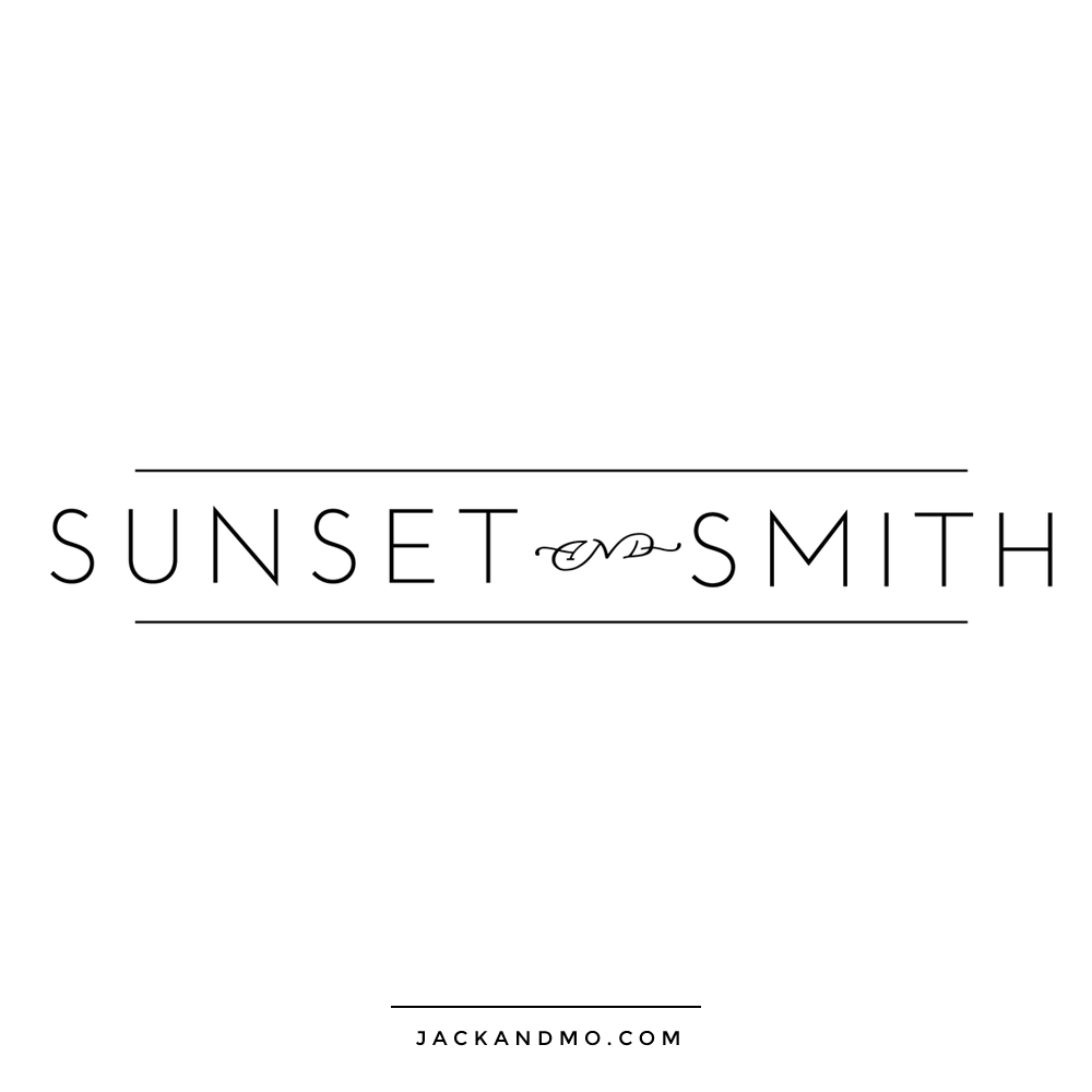 Minimalist Text Logo in Black and White, Boutique Design, by Jack and Mo, Meredith Myers