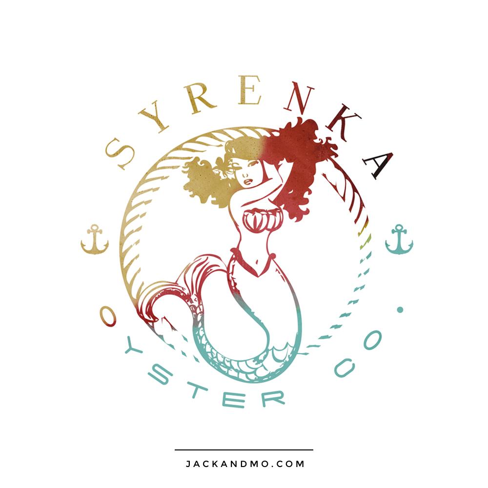 Mermaid Sexy Illustration Fun Design Custom Logo by Jack and Mo