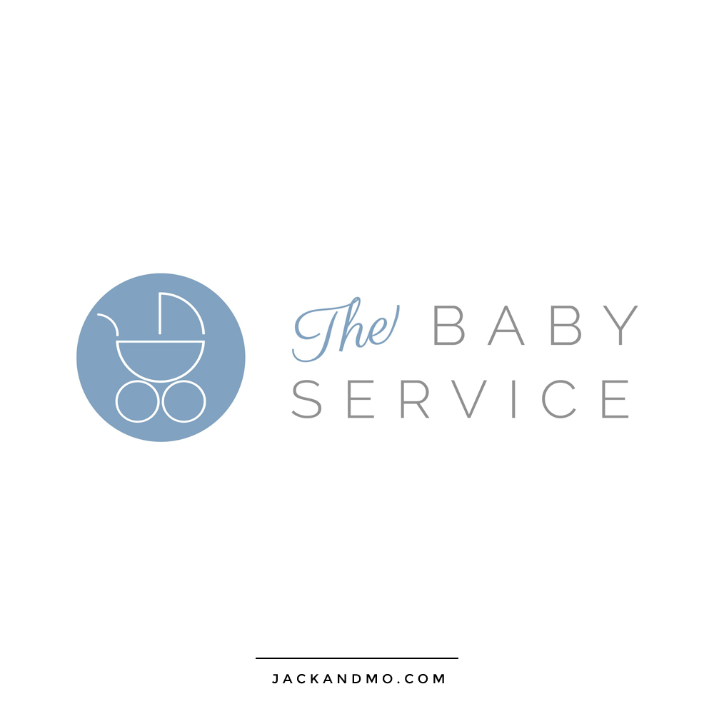 Baby Service Custom High-End Logo Design, London, by Jack and Mo