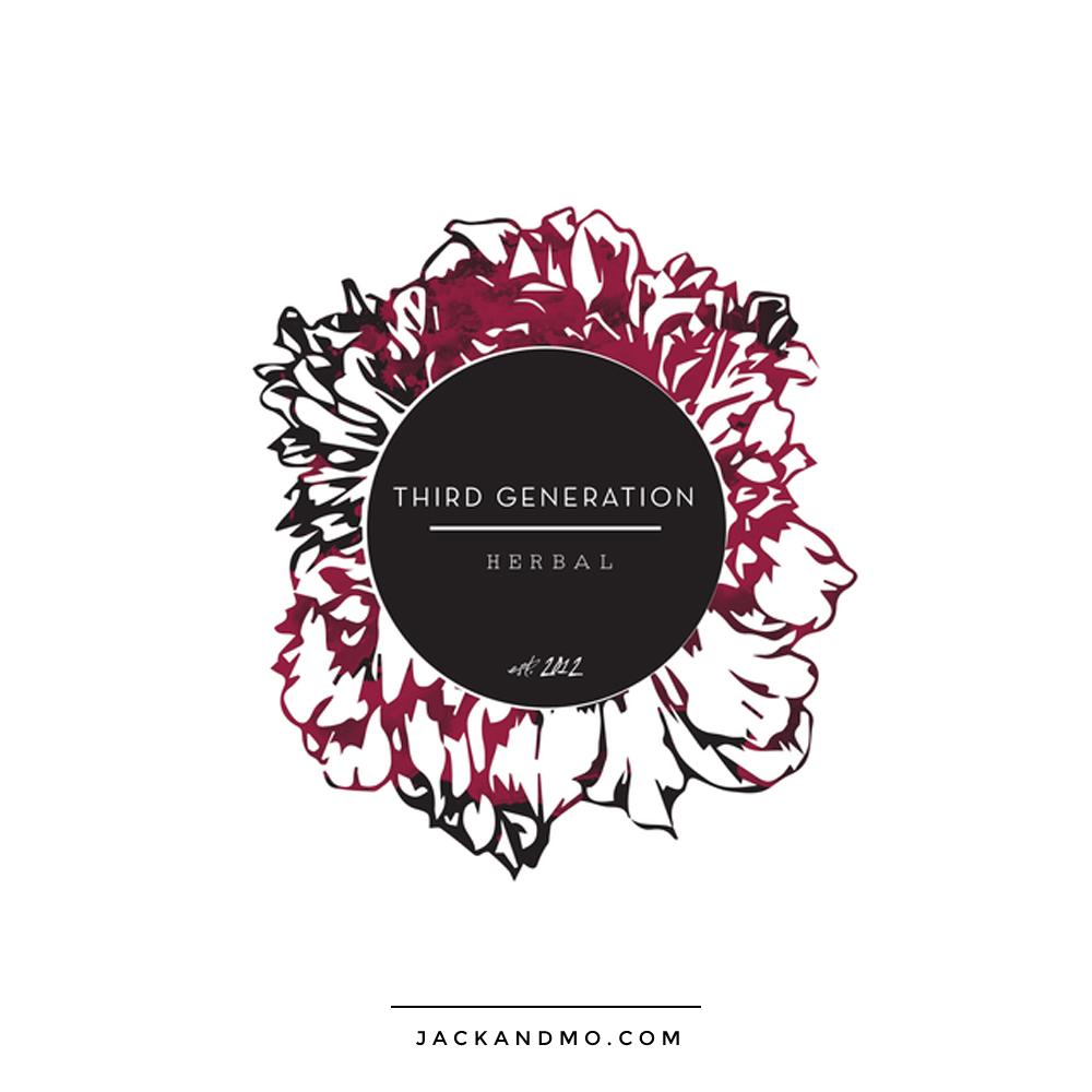 third_generation_herbal_logo_design_floral